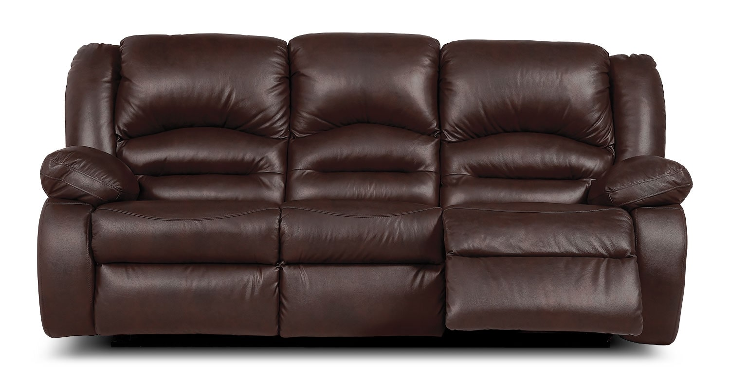 genuine leather power reclining sofa furniture design wood toreno  brown the