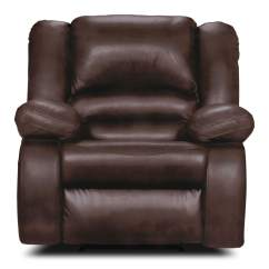 Genuine Leather Chair Landshark Adirondack Toreno Power Reclining  Brown The