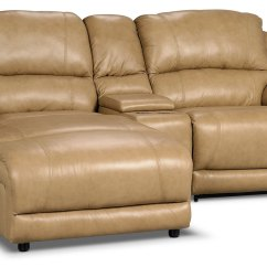 3 Piece Leather Sectional Sofa With Chaise Simmons Soho And Loveseat Marco Genuine Power