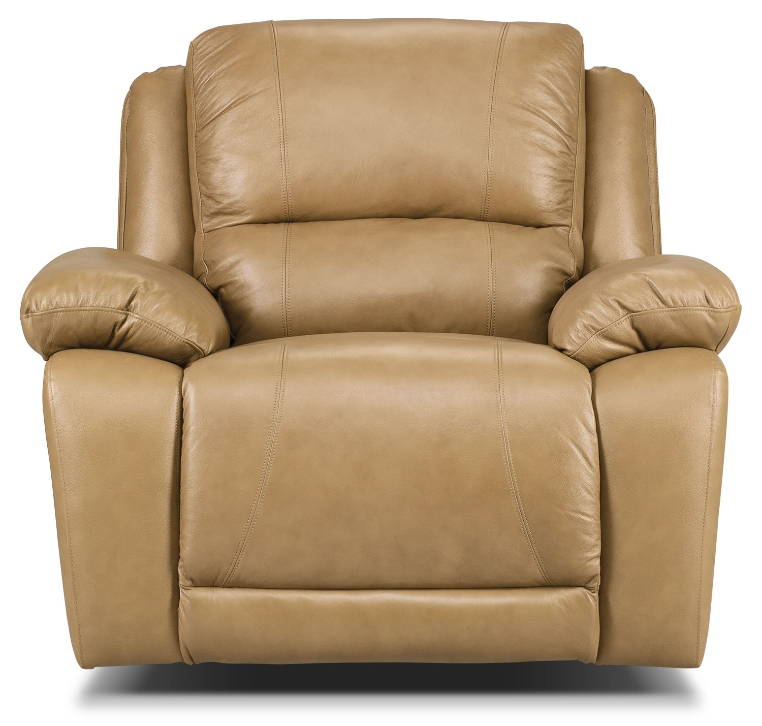 Real Leather Recliner Chairs Marco Genuine Leather Rocker Reclining Chair Toffee