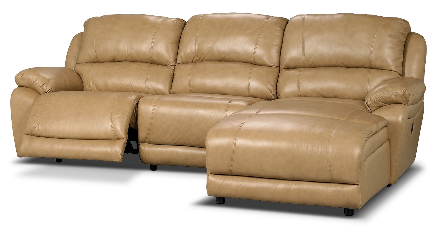 the brick cindy crawford reclining sofa leather chesterfield at sam s club marco genuine 3 piece sectional with right facing