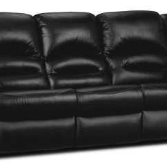 Genuine Leather Power Reclining Sofa Best Pillows For Toreno  Black The
