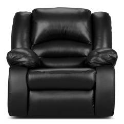 Genuine Leather Chair Chairs For Sex Toreno Power Reclining  Black The