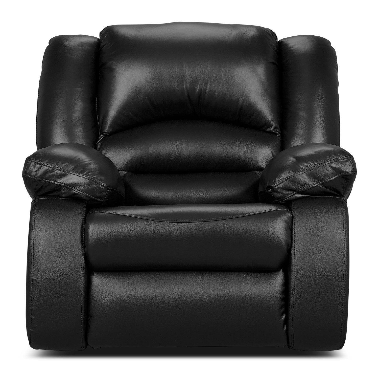 Real Leather Recliner Chairs Toreno Genuine Leather Power Reclining Chair Black The
