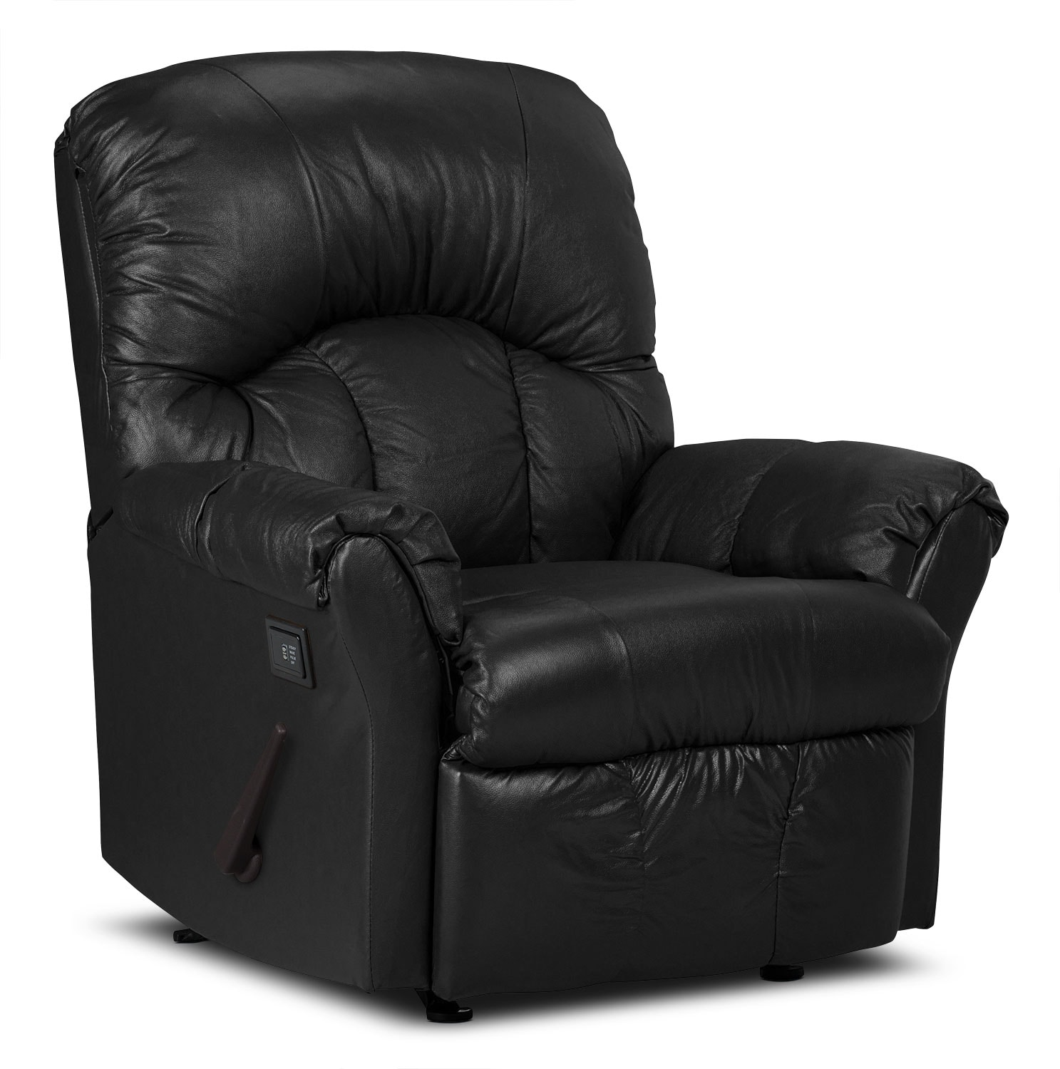 Real Leather Recliner Chairs Designed2b Recliner 6734 Genuine Leather Massage Chair