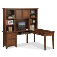 Morgan L Shaped Desk with Hutch   Brown   Value City Furniture