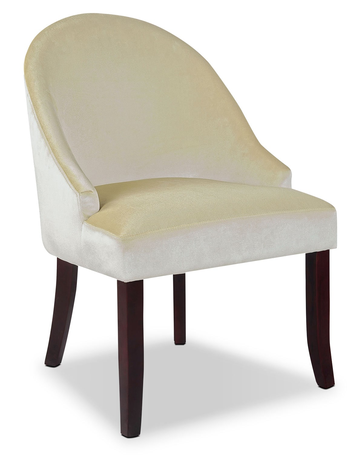 Cream Accent Chair Dad Velvet Fabric Accent Chair Cream The Brick