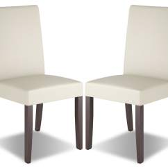 Faux Leather Dining Chairs Chair Exercises For Seniors In Wheelchairs Atwood Set Of 2  Cream The Brick
