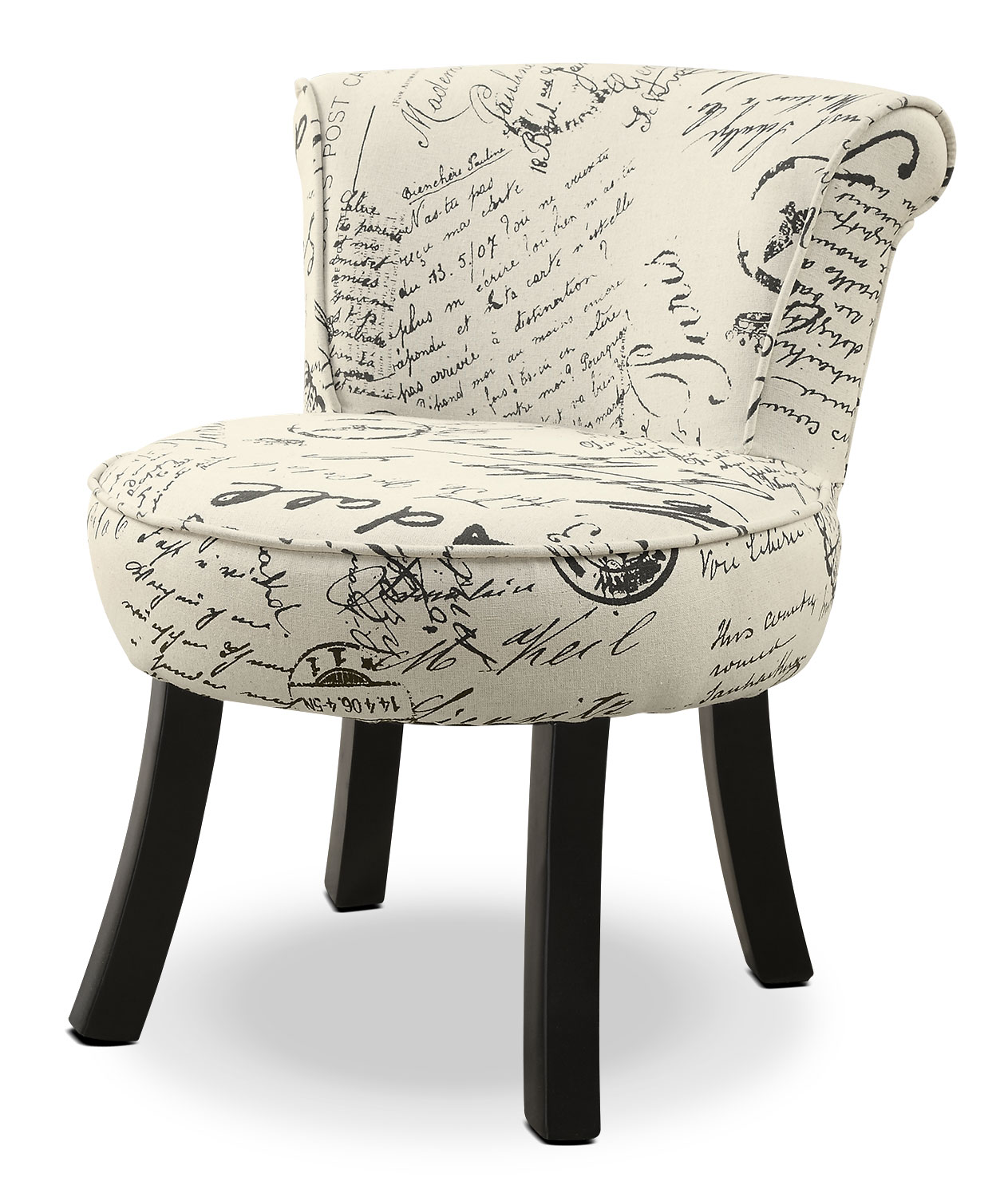 French Script Chair Monarch Children 39s Accent Chair French Script The Brick