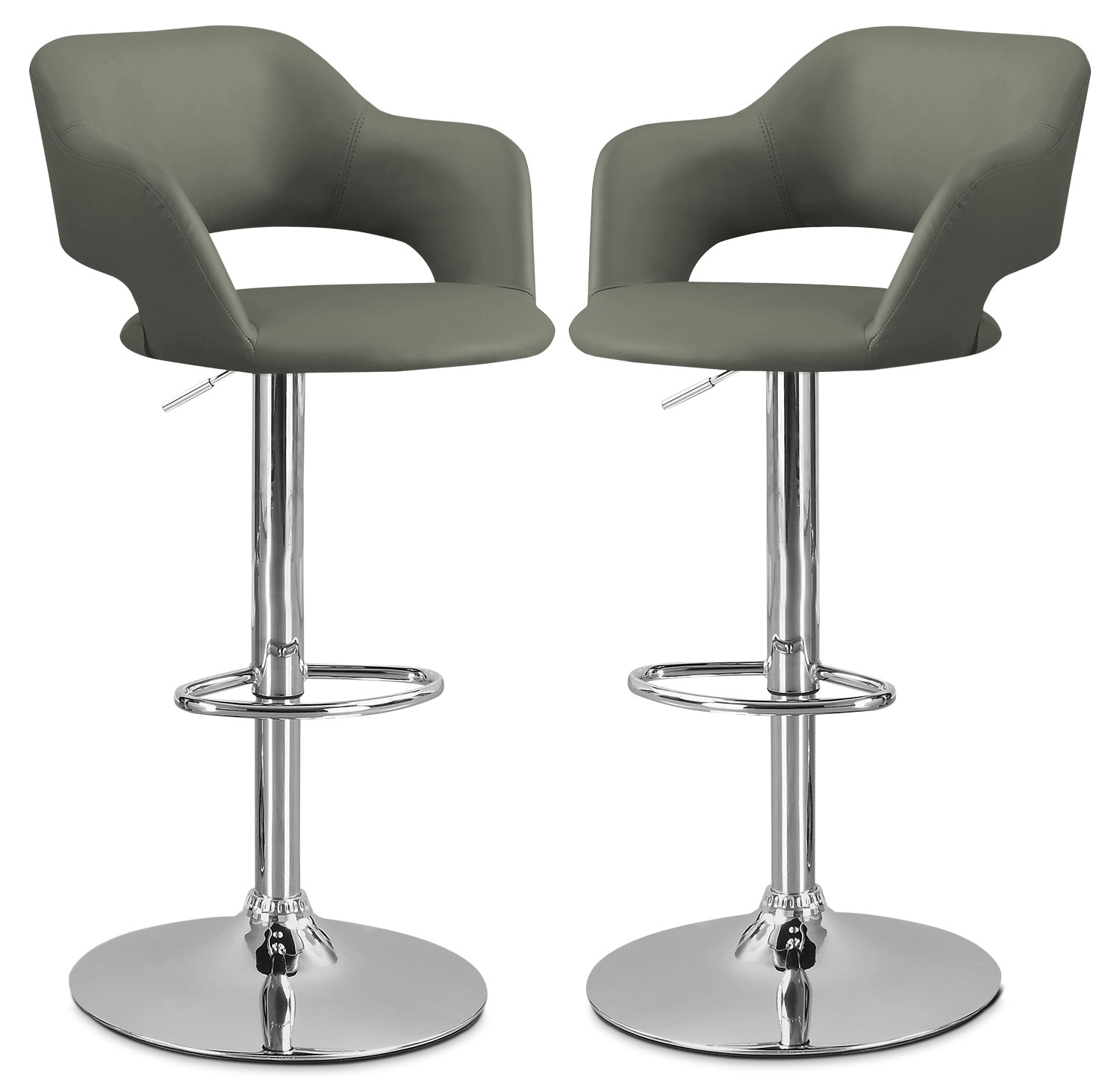 stool chair images shiatsu massager monarch hydraulic contemporary bar set of 2  grey