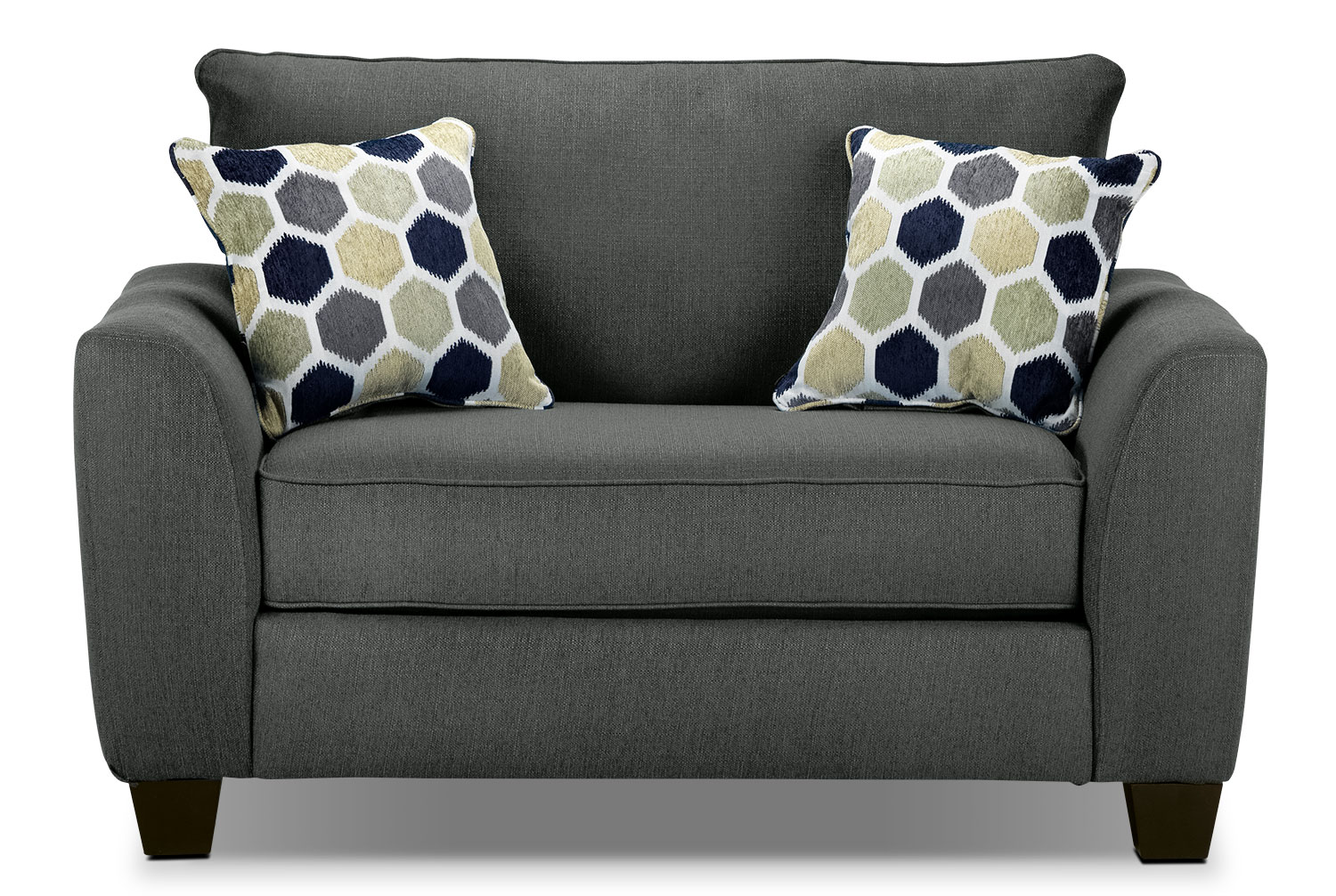 gray chair and a half tufted parsons heritage grey leon 39s