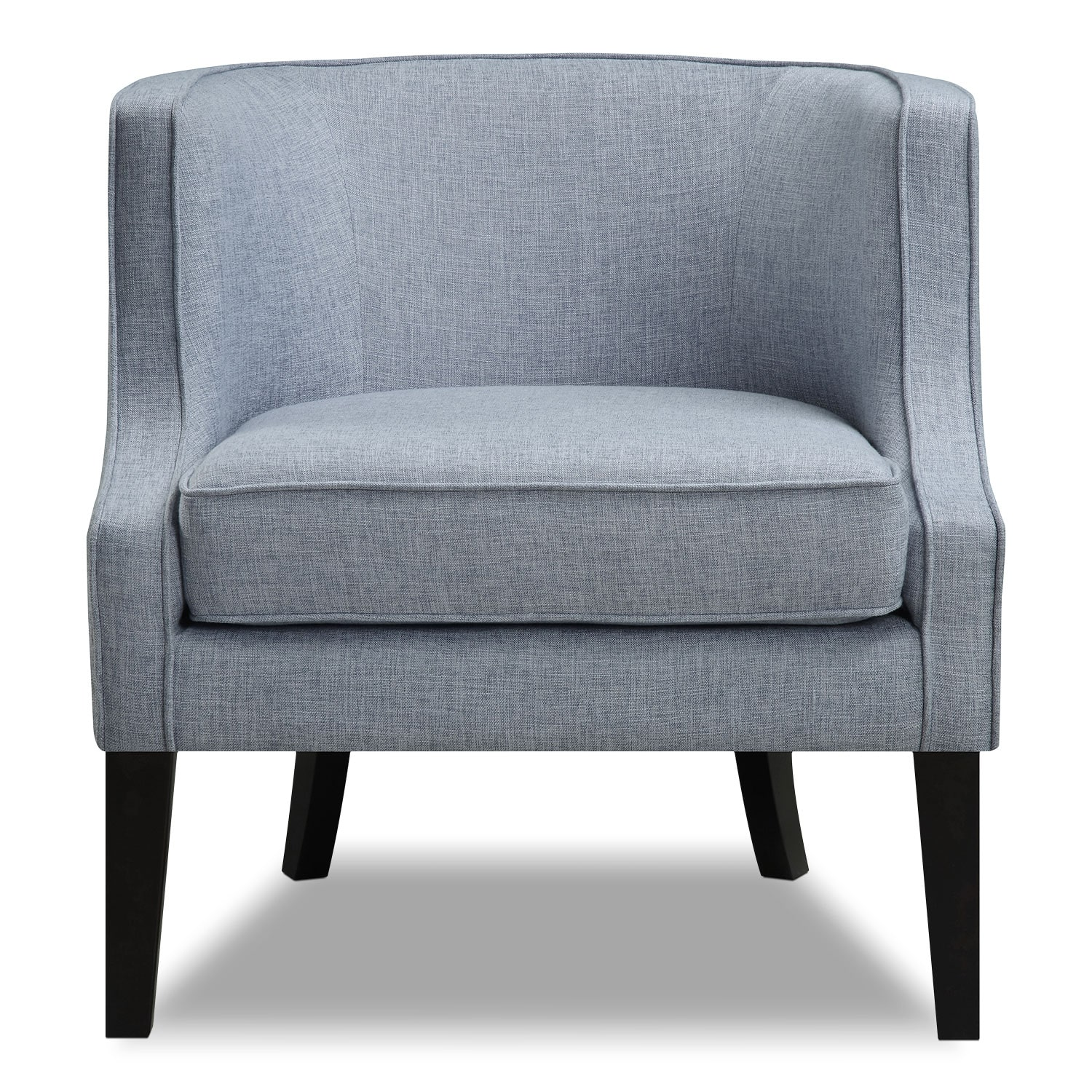Accent Chair Blue Bradley Accent Chair Blue American Signature Furniture