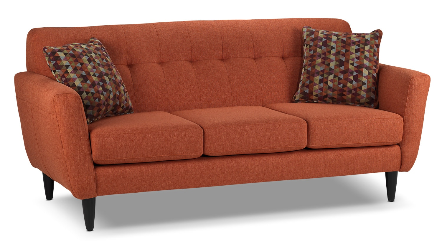 orange color sofa comfortable sleeper leather cobra leon 39s