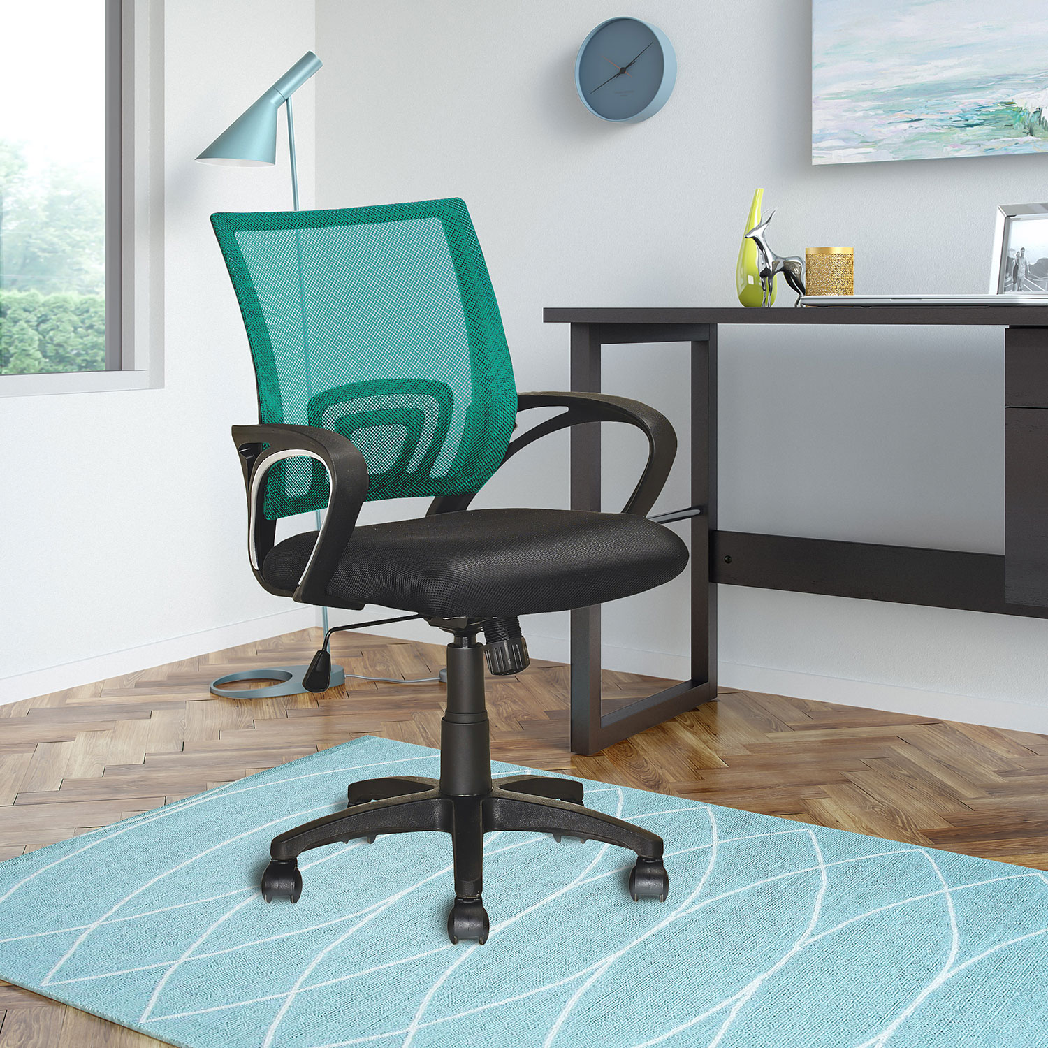 desk chair teal covers and bows south wales loft mesh office  the brick