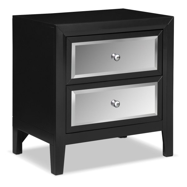 Bonita Nightstand - Black American Signature Furniture