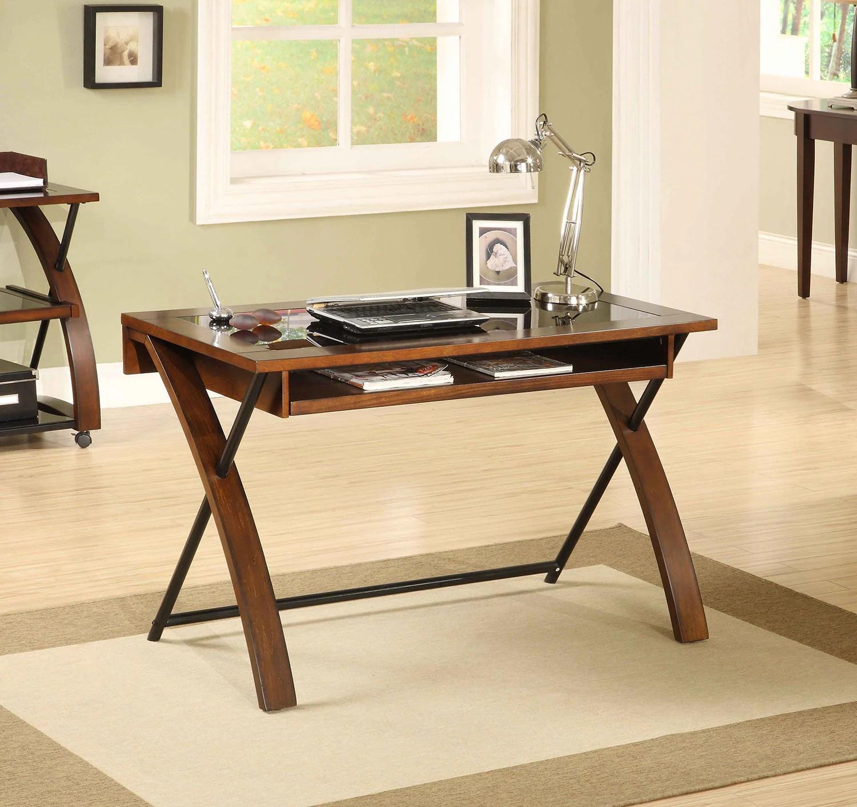 zeta desk chair green parsons computer black and brown cherry leon 39s