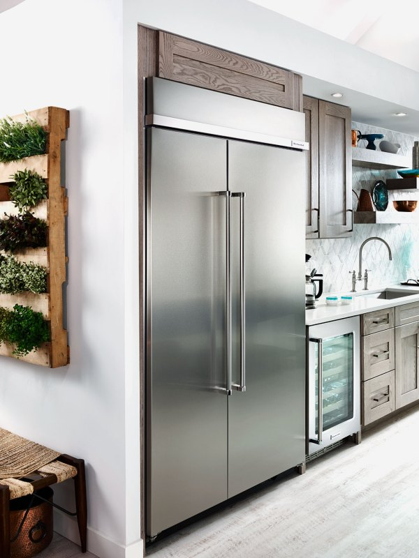 KitchenAid Refrigerators Side by Side Stainless Steel