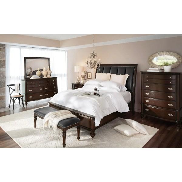 Esquire Nightstand - Merlot American Signature Furniture