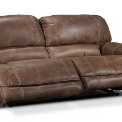 Most Durable Sofa Manufacturers Reupholster Leather With Fabric Durango Reclining Saddle Brown Leon 39s