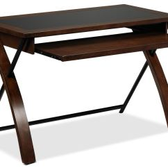 Zeta Desk Chair Wooden Frames For Upholstery Computer Black And Brown Cherry Leon 39s