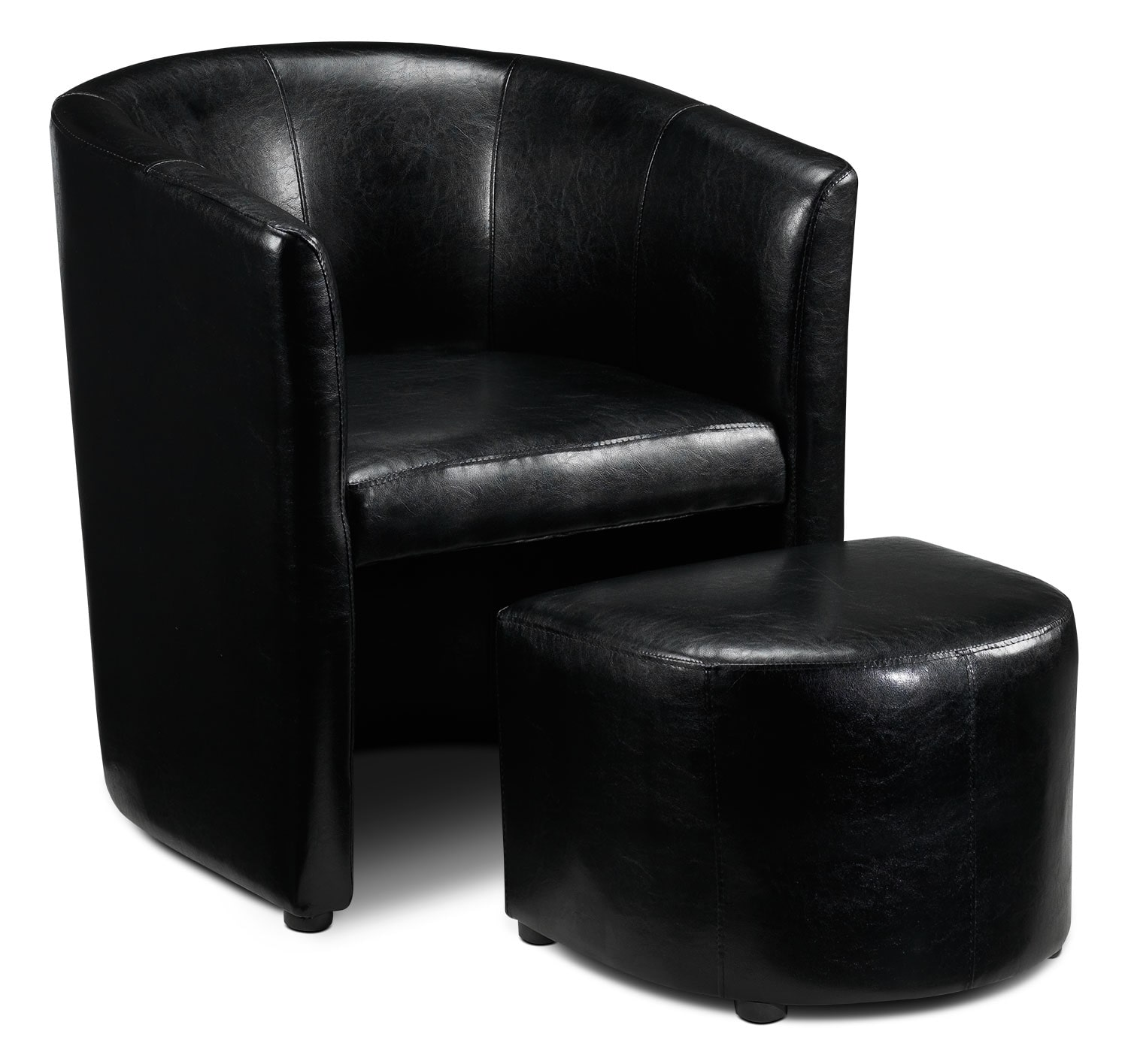 black chair and ottoman picnic time replacement parts elton tub leon 39s
