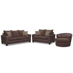 Swivel Chair Sofa Set White Leather Armless Brando Queen Memory Foam Sleeper Loveseat And