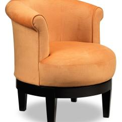 Accent Swivel Chairs White Wedding Attica Chair Orange Leon 39s
