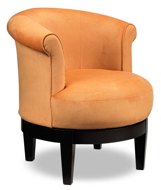 swivel accent chairs throne style chair attica orange leon 39s