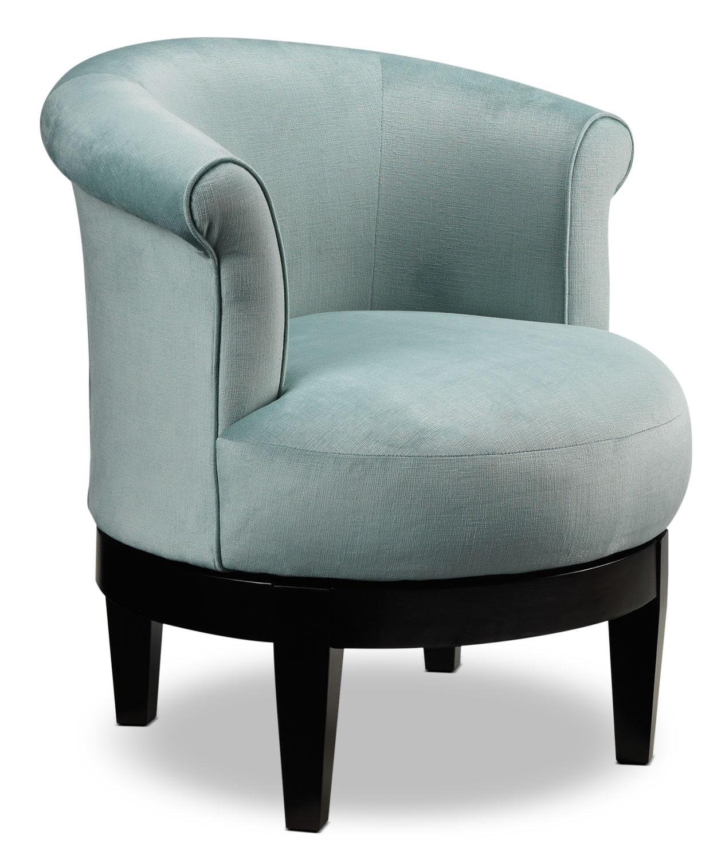 Attica Swivel Accent Chair  Aqua  Leons
