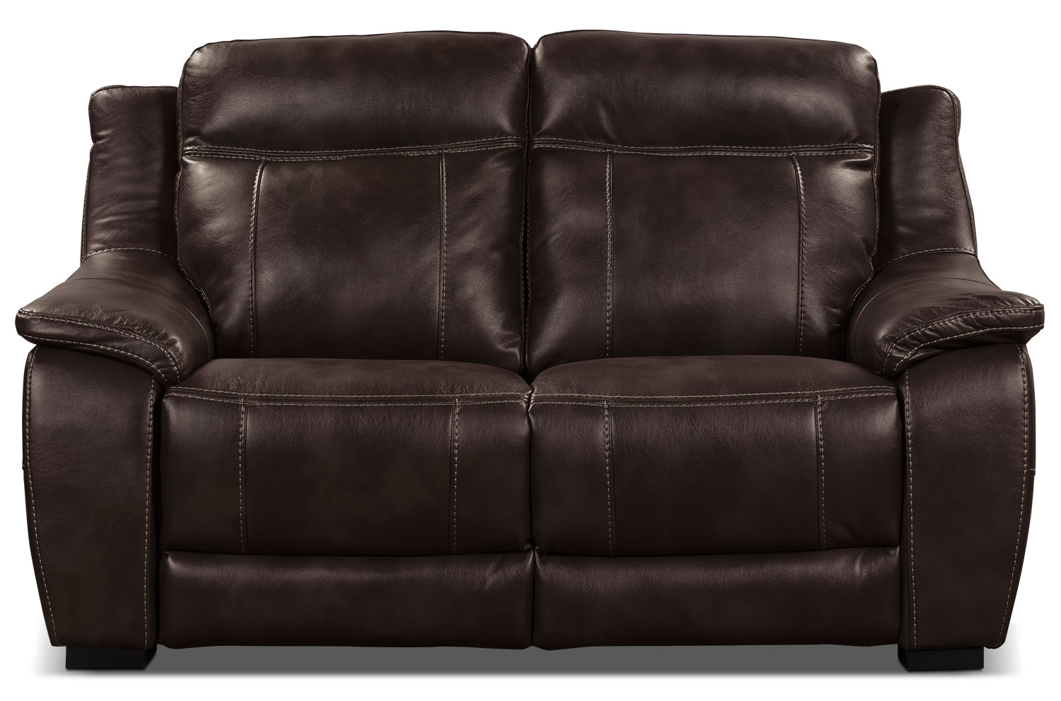 the brick cindy crawford reclining sofa mint green sectional novo leather look fabric loveseat  brown