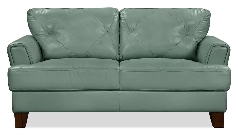 100 genuine leather sofa nook vita  sea foam the brick