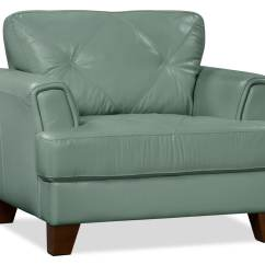Genuine Leather Chair Peacock Fan Vita 100  Sea Foam The Brick