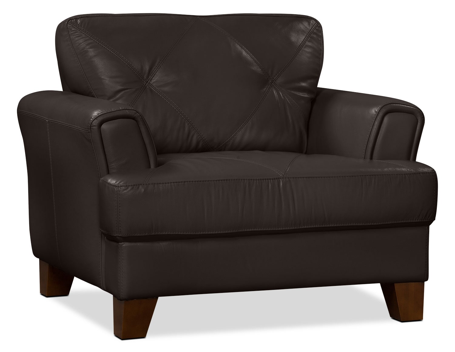 genuine leather chair bariatric transport 500 lbs vita 100  chocolate the brick