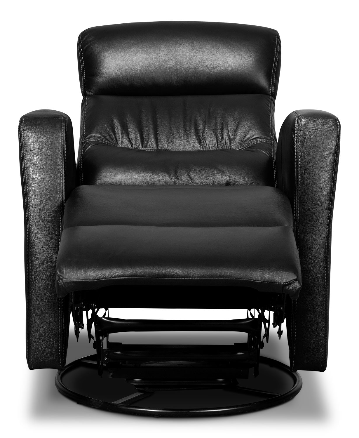 Real Leather Recliner Chairs Penny Genuine Leather Swivel Rocker Reclining Chair