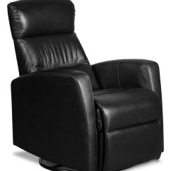 Swivel Chair Black Upholstered Vanity Chairs For Bathroom Penny Genuine Leather Rocker Reclining