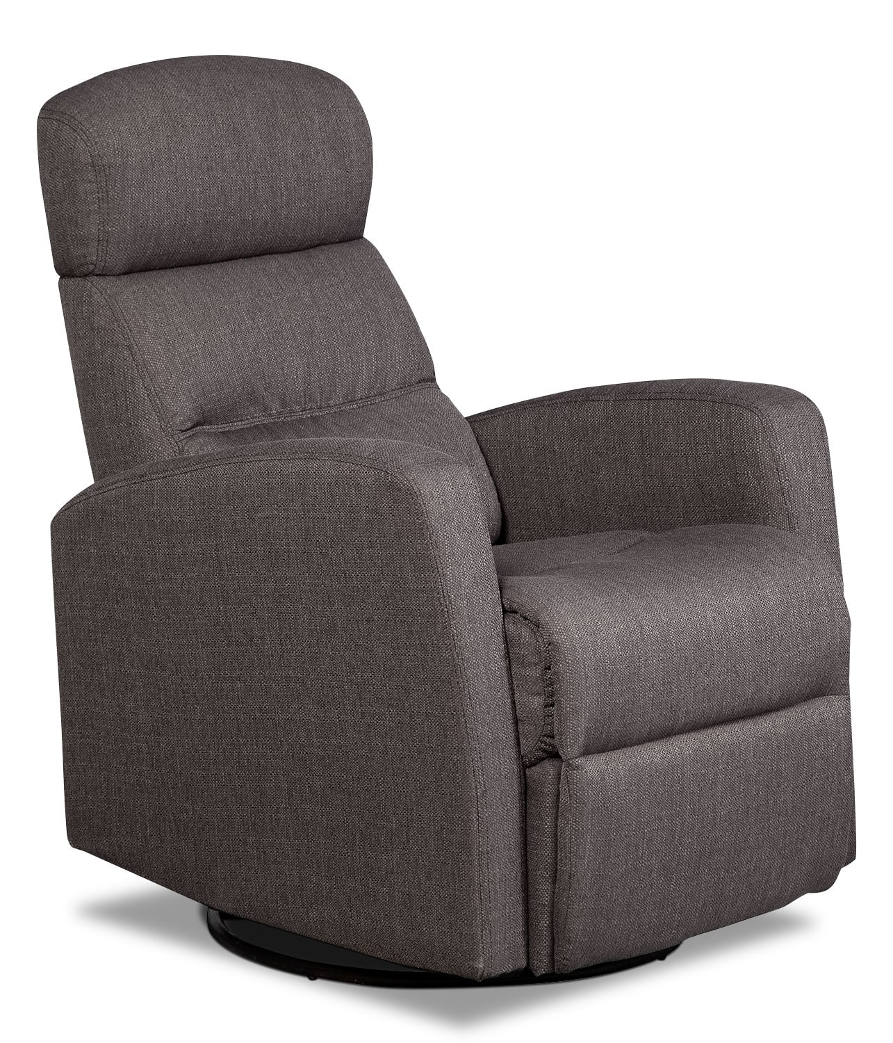 Gray Recliner Chair Penny Linen Look Fabric Swivel Rocker Reclining Chair