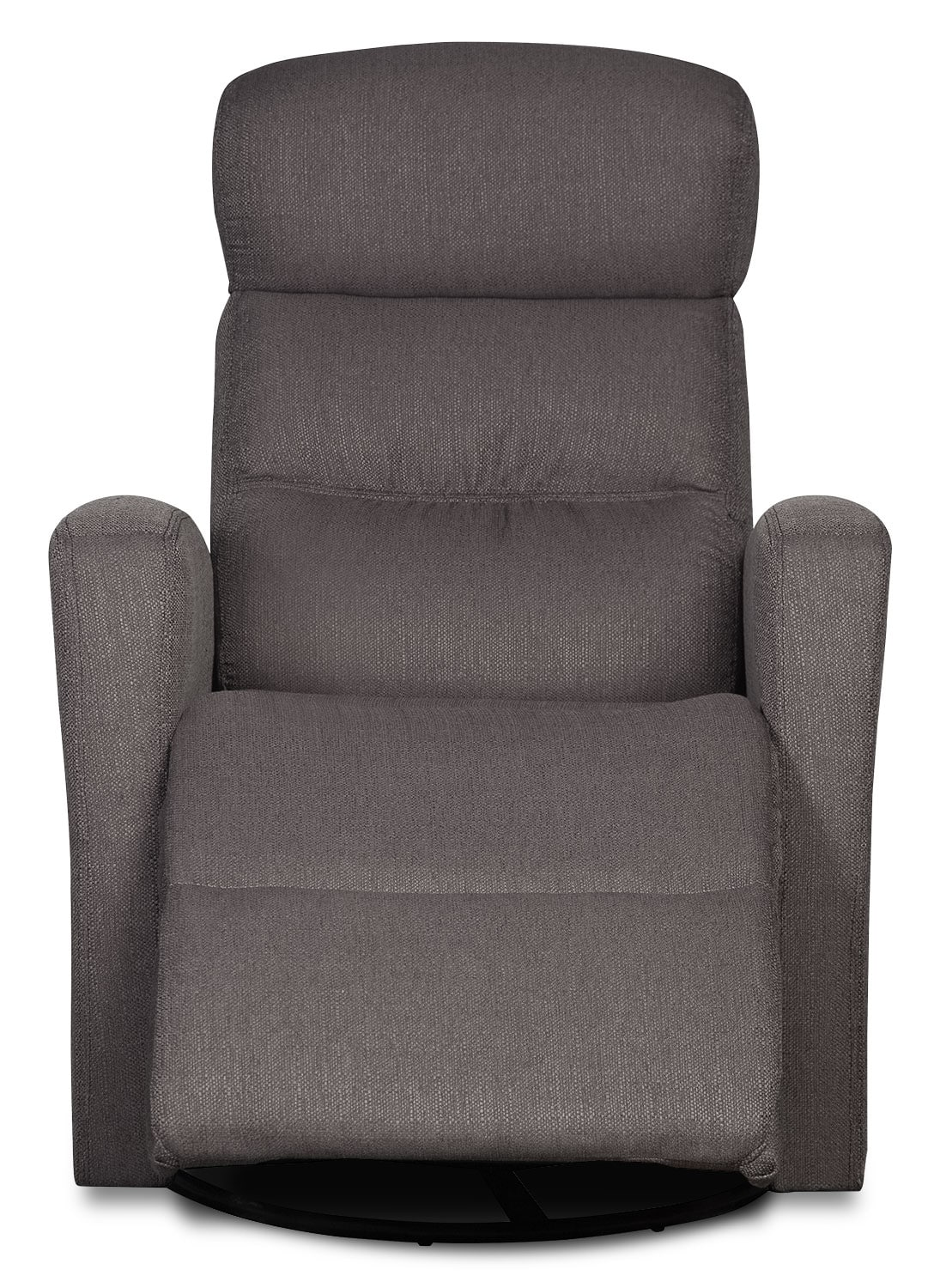 grey fabric swivel office chair colorful chairs penny linen look rocker reclining