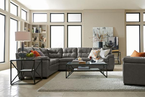 Magnum 2-piece Sectional - Gray City Furniture
