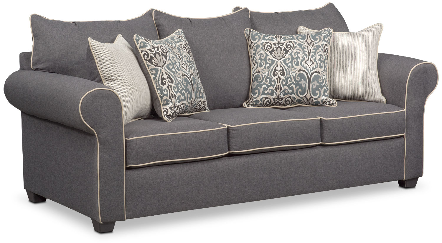 couch and chair set collapsible rocking carla sofa loveseat accent gray value