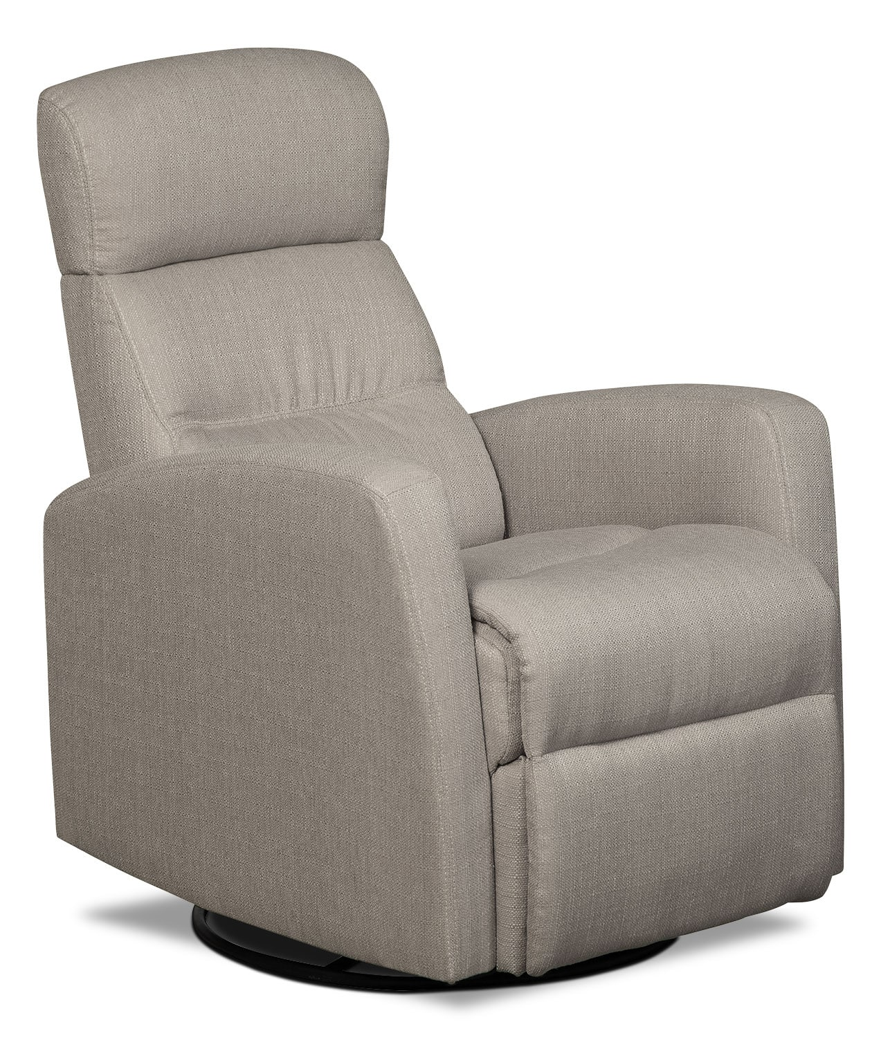 Recliner Rocking Chair Penny Linen Look Fabric Swivel Rocker Reclining Chair