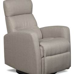 Recliner Swivel Chair Desk Casters Penny Linen Look Fabric Rocker Reclining