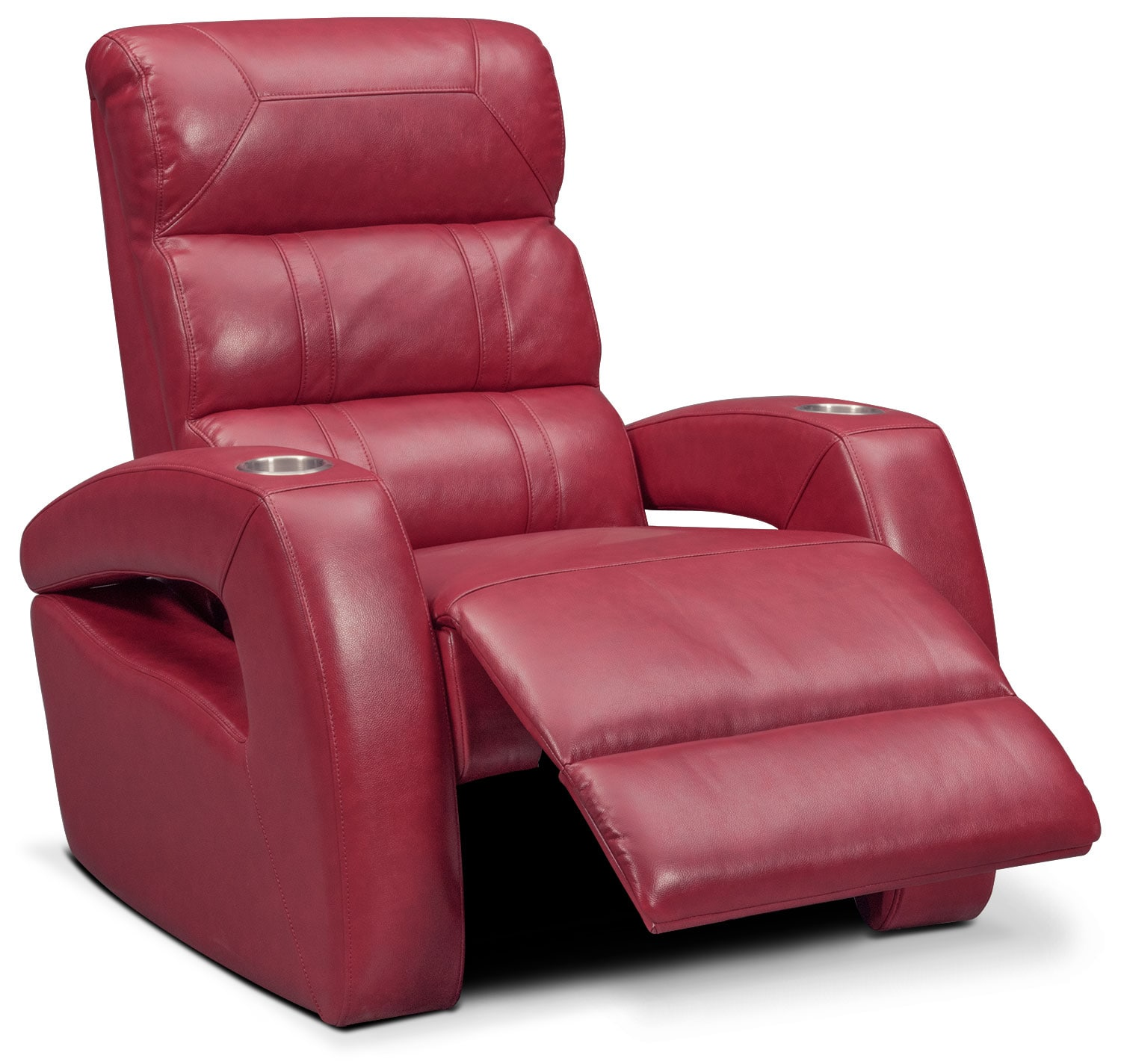 red recliner chairs swivel chair seat post bushing bravo power value city furniture