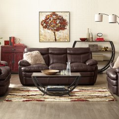Brown Accent Pillows Sofa Back To Decorating Ideas Marty Genuine Leather - | The Brick