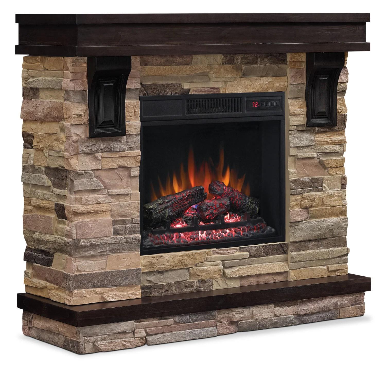 Austin 45 TV Stand with Log Firebox  The Brick