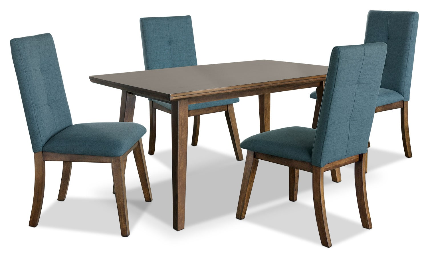 Aqua Dining Chairs Chelsea 5 Piece Dining Package With Aqua Chairs The Brick