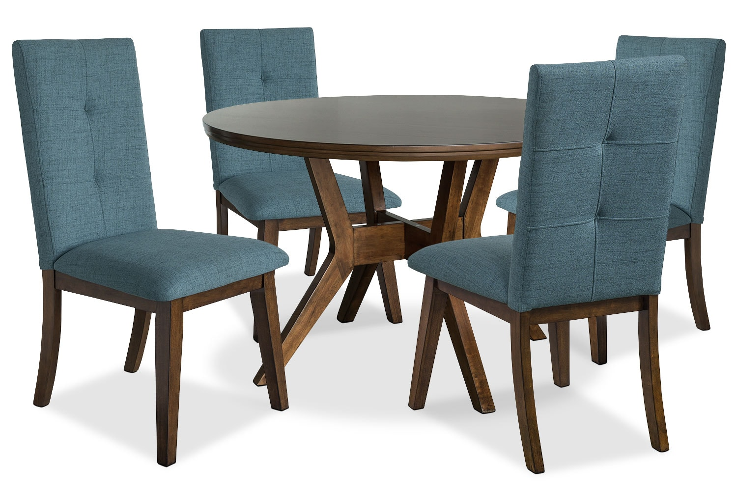 Aqua Dining Chairs Chelsea 5 Piece Round Dining Table Package With Aqua