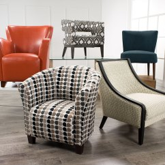 Tub Accent Chair Graco High Elephant Style Fabric Steel The Brick