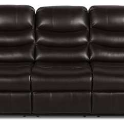 Angus Bonded Leather Reclining Sofa Settee For Sale Look Fabric  Dark Brown