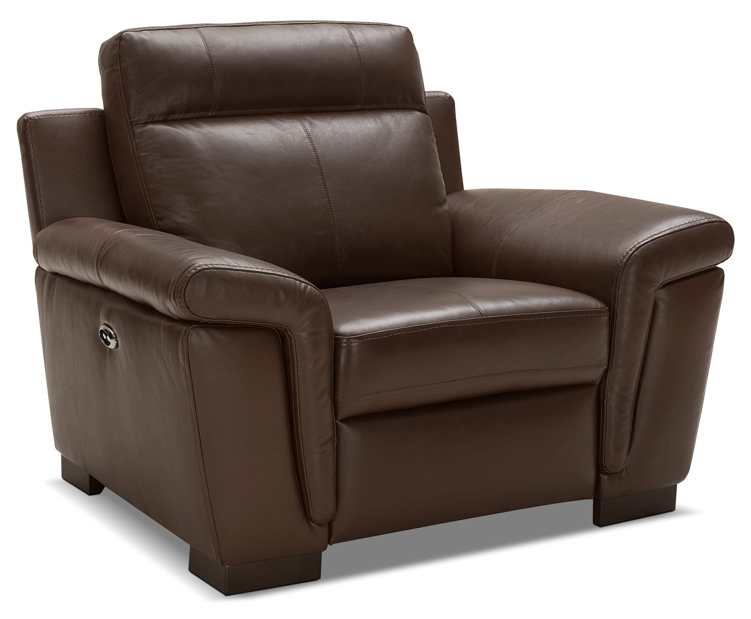 Real Leather Recliner Chairs Seth Genuine Leather Power Reclining Chair Mahogany