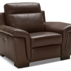 Genuine Leather Chair Backyard Tables And Chairs Seth Power Reclining  Mahogany